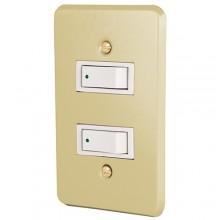 Placa con 2 Interruptores sencillos Línea económica