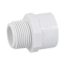 Tubería y conexiones de PVC hidráulico, Adaptadores macho