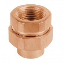Tubos y conexiones de cobre, Tuercas unión, cobre a rosca interior