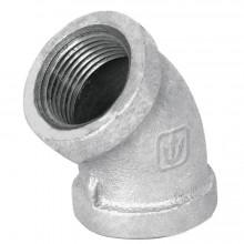 Conexiones de acero galvanizado, Codos 45°