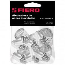 10 Mini-abrazaderas reforzadas de acero inoxidable