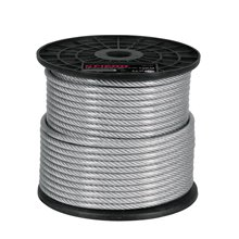 Cable de acero recubierto de PVC 7x19 hilos