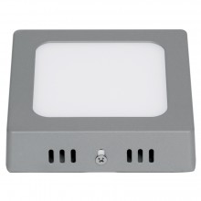 Plafones Cuadrados LED de Sobreponer, color Gris