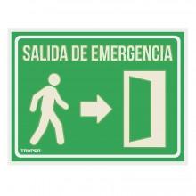 "Letrero Señalización ""Salida de Emergencia"""