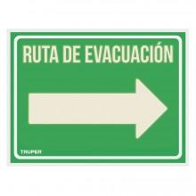 """Letrero Señalización """"Ruta Evacuación Derecha"""""""