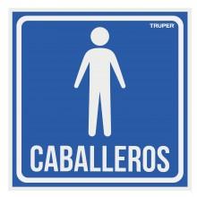 """Letrero Señalización """"Caballeros"""""""