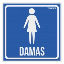 Letrero Señalización ''Damas''