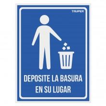 """Letrero Señalización """"Deposite la Basura en su Lugar"""""""