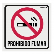 """Letrero Señalización """"No Fumar"""""""