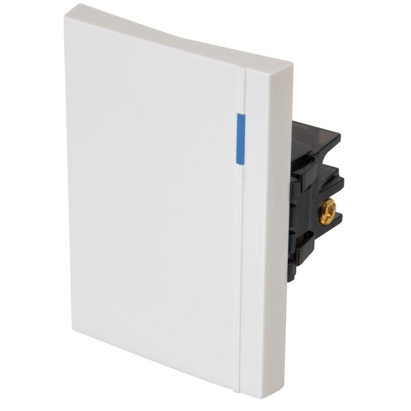 Interruptores sencillos 3 módulos, línea Española