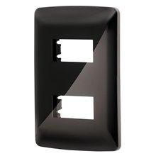 Placa 1 Módulo Italiana Color Negro