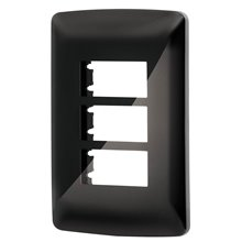 Placa 3 Modulos Italiana Color Negro