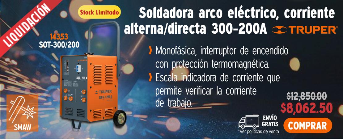 Soldadora Arco Eléctrico AC-CD 300-200 A - OFERTA DIPROFER